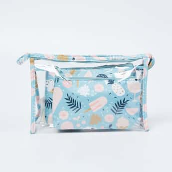 GINGER Printed Zip-Closure Cosmetic Pouch - Set of 3