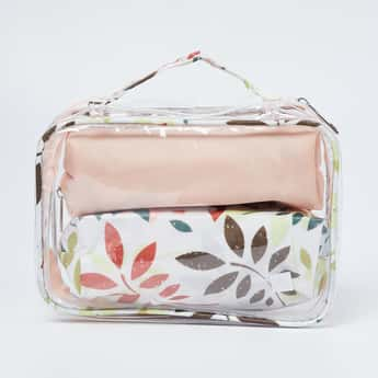 GINGER Floral Print Cosmetic Pouch - Set of 3