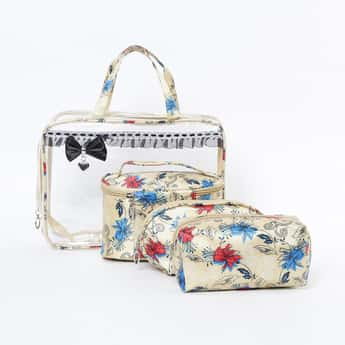 GINGER Floral Print Cosmetic Pouch - Set of 4