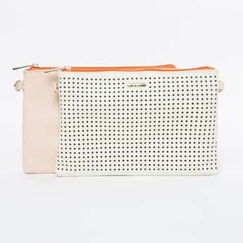 GINGER Cut-Out Sling Bag with Contrast Back