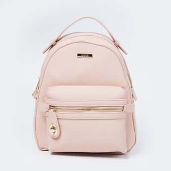 CODE Solid Zip-Closure Backpack
