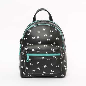 GINGER Printed Zip-Closure Backpack