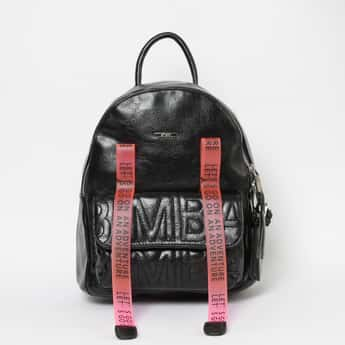 GINGER Embossed Zip-Closure Backpack