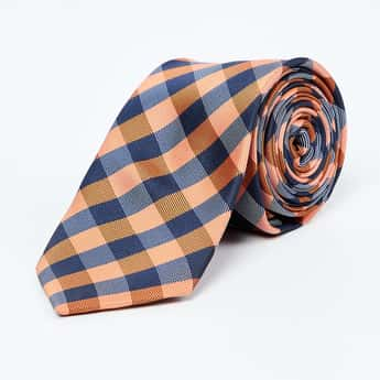 VAN HEUSEN Gingham Checked Tie