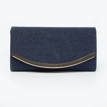CODE Shimmery Clutch with Chain Strap