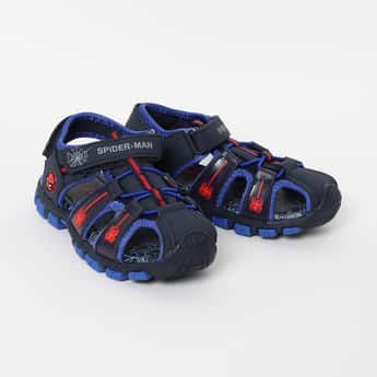 FAME FOREVER Spiderman Embellished Velcro Strap Sandals