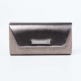 CODE Shimmery Detailed Clutch with Sling