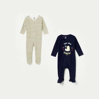 FS MINI KLUB Printed Knitted Sleepsuit - Set of 2