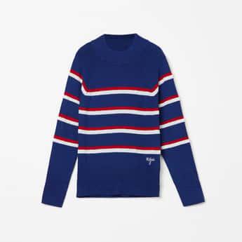 U.S. POLO ASSN. KIDS Striped Full Sleeves Sweater