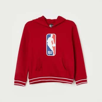 NBA Printed Hooded Full Sleeves Sweatshirt