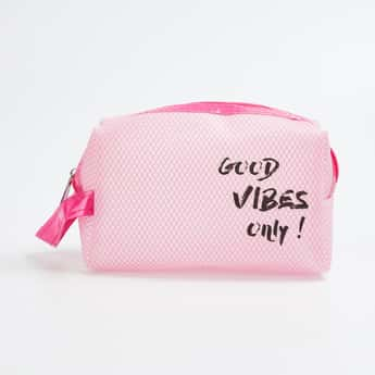 GINGER Printed Zip-Closure Cosmetic Pouch