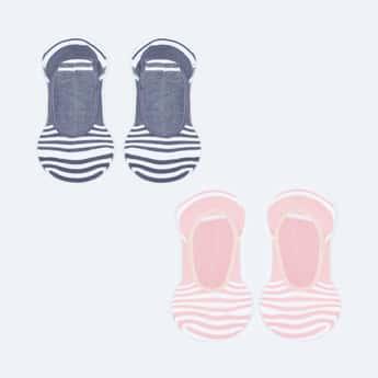 GINGER Women Striped No-Show Socks