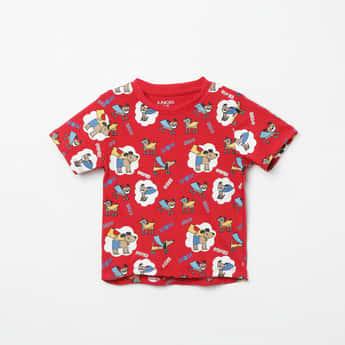 JUNIORS Printed Crew Neck T-shirt