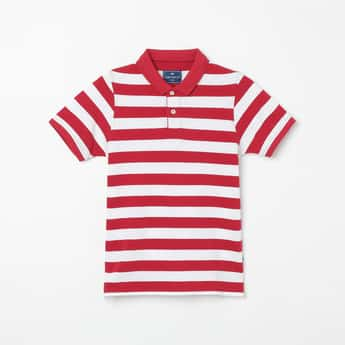 FAME FOREVER YOUNG Striped Polo T-shirt