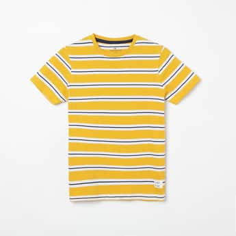 FAME FOREVER YOUNG Striped Crew Neck T-shirt