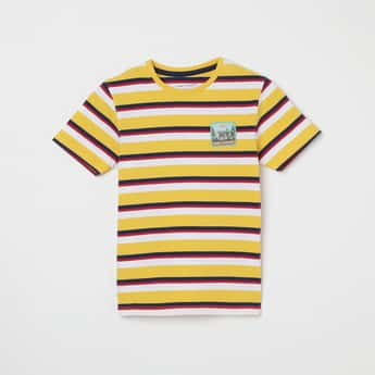 FAME FOREVER KIDS Striped Crew Neck T-shirt