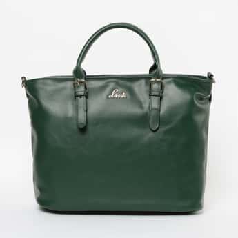 LAVIE Solid Zip-Closure Tote Bag