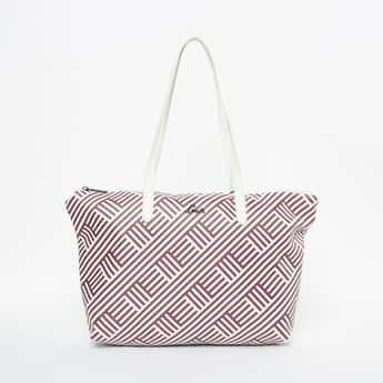 LAVIE Printed Tote Bag with Flat Handles