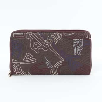 LAVIE Embroidered Zip-Around Wallet