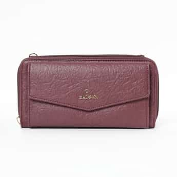 LAVIE Textured Bi-Fold Wallet with Shoulder Strap