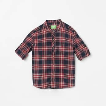 BOSSINI Checked Full Sleeves Casual Shirt