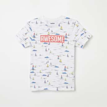 BOSSINI Printed Crew Neck T-shirt
