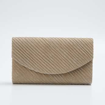 CODE Striped Party Clutch