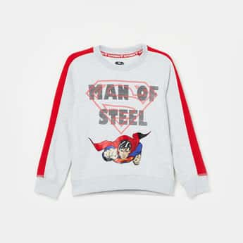 KIDSVILLE Printed Crew Neck Sweatshirt