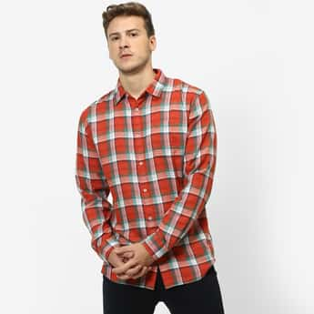 CELIO Checked Full Sleeves Regular Fit Casual Shirt