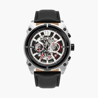 POLICE Men Analog Watch with Leather Strap - PL16020JSTB04W
