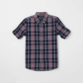INDIAN TERRAIN Checked Full Sleeves Casual Shirt