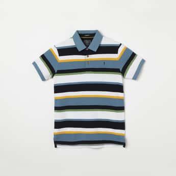 INDIAN TERRAIN Striped Polo T-shirt
