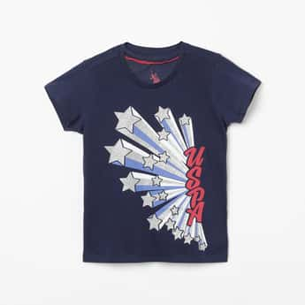 U.S. POLO ASSN. KIDS Printed Short Sleeves T-shirt