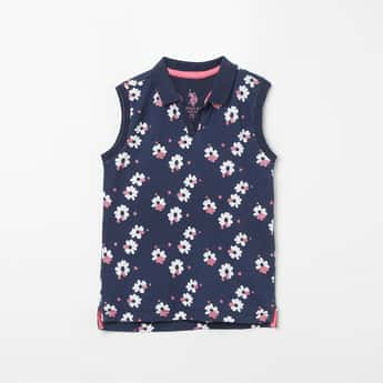 US POLO KIDS Floral Design Top