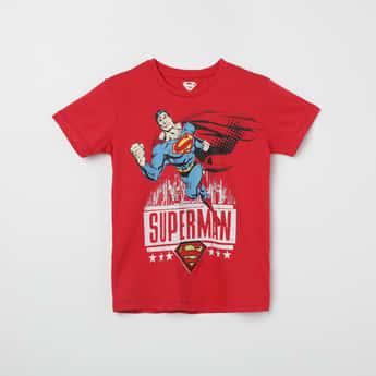 KIDSVILLE Superman Print Crew Neck T-shirt