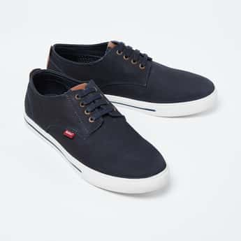 LEE COOPER Solid Casual Shoes with Contrast Panel