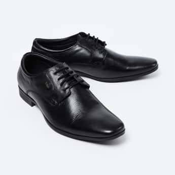LEE COOPER Genuine Leather Textured Derby Shoes