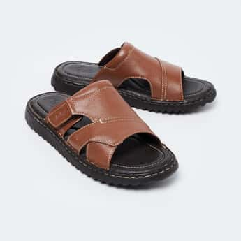 LEE COOPER Genuine Leather Textured Sandals
