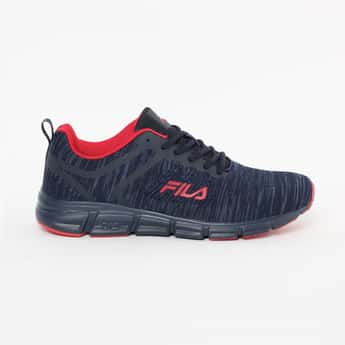 FILA Textured Lace-Up Sports Shoes