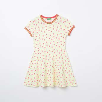 UNITED COLORS OF BENETTON Printed Fit & Flare Dress
