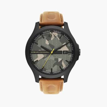 ARMANI EXCHANGE Men Analog Watch with Leather Strap - AX2412I