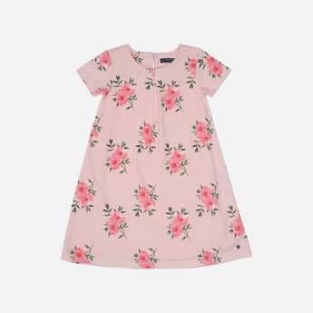 ALLEN SOLLY Floral Print A-line Dress
