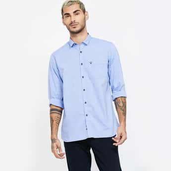 ALLEN SOLLY Striped Slim Fit Casual Shirt