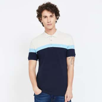 UNITED COLORS OF BENETTON Colourblock Slim Fit Polo T-shirt