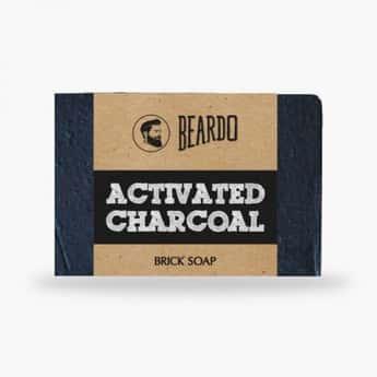 BEARDO Activated Charcoal Brick Soap-125 gm