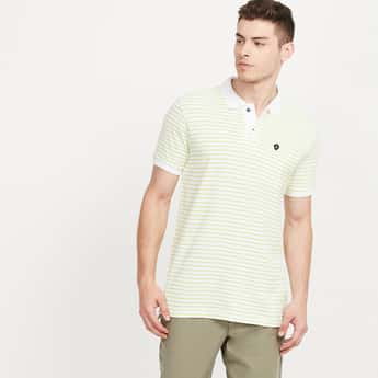 VH SPORTS Striped Regular Fit Polo T-shirt