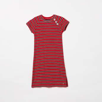 ALLEN SOLLY Girls Striped A-line Dress