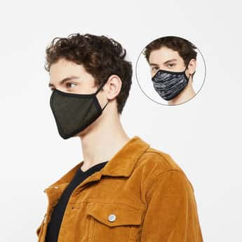 FAME FOREVER Men Reusable Masks - Pack of 2