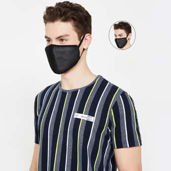 FAME FOREVER Men Solid Reusable Masks - Pack of 2 Pcs.