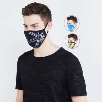 PEPE JEANS Men Printed Anti-Viral Reusable Masks - Pack of 3 Pcs.